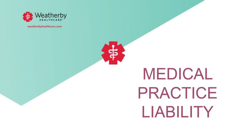 Weatherby Healthcare - malpractice insurance for locum tenens - featured image of Weatherby logo with article description