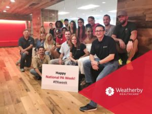 National PA Week 2017 - featured image of Weatherby team celebrating National PA Week