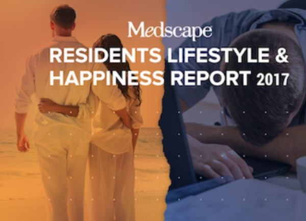 resident lifestyle - featured image of medscape residents lifestyle and happiness report 2017 title slide