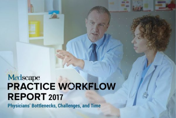 Weatherby Healthcare - 2017 Medscape Report Highlights - Featured image of Medscape practice workflow management report cover