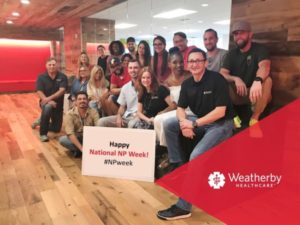 Weatherby Healthcare - National NP Week 2017 - featured image of Weatherby's consultant team wishing you a happy NP week